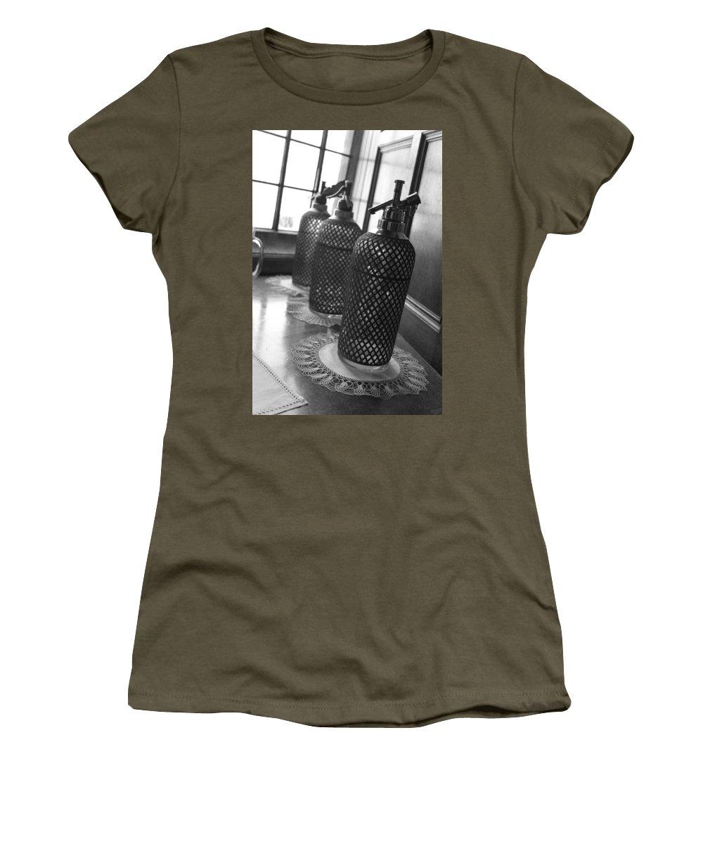 Seltzer Women's T-Shirt (Athletic Fit) featuring the photograph Seltzer Bottles by Lauri Novak