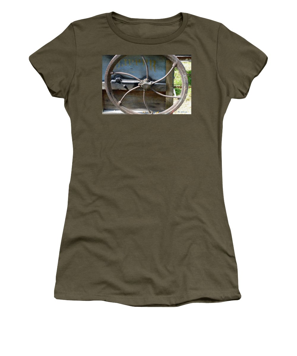Agriculture Women's T-Shirt featuring the digital art Sending To The War by RC DeWinter