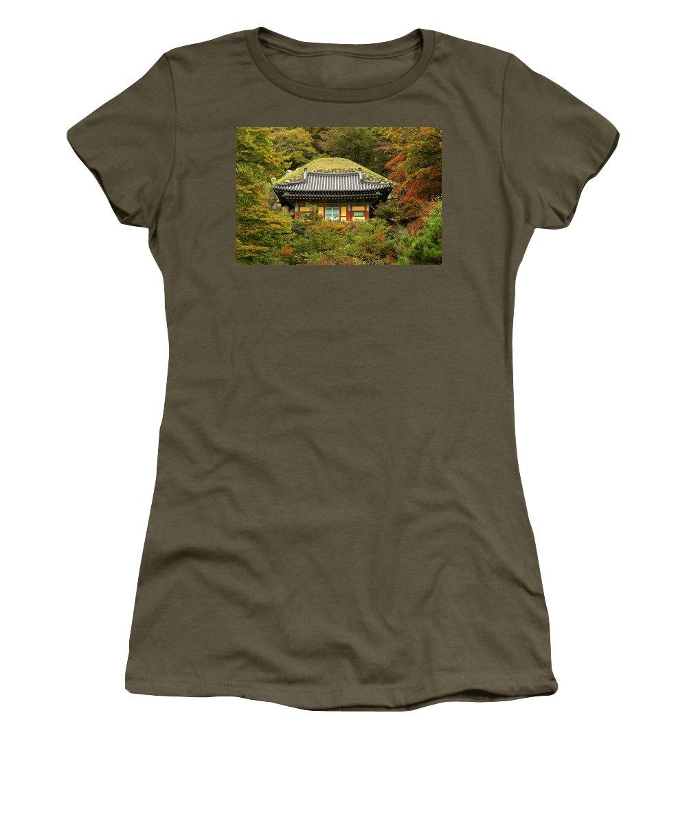 Asia Women's T-Shirt featuring the photograph Seokguram Grotto by Michele Burgess