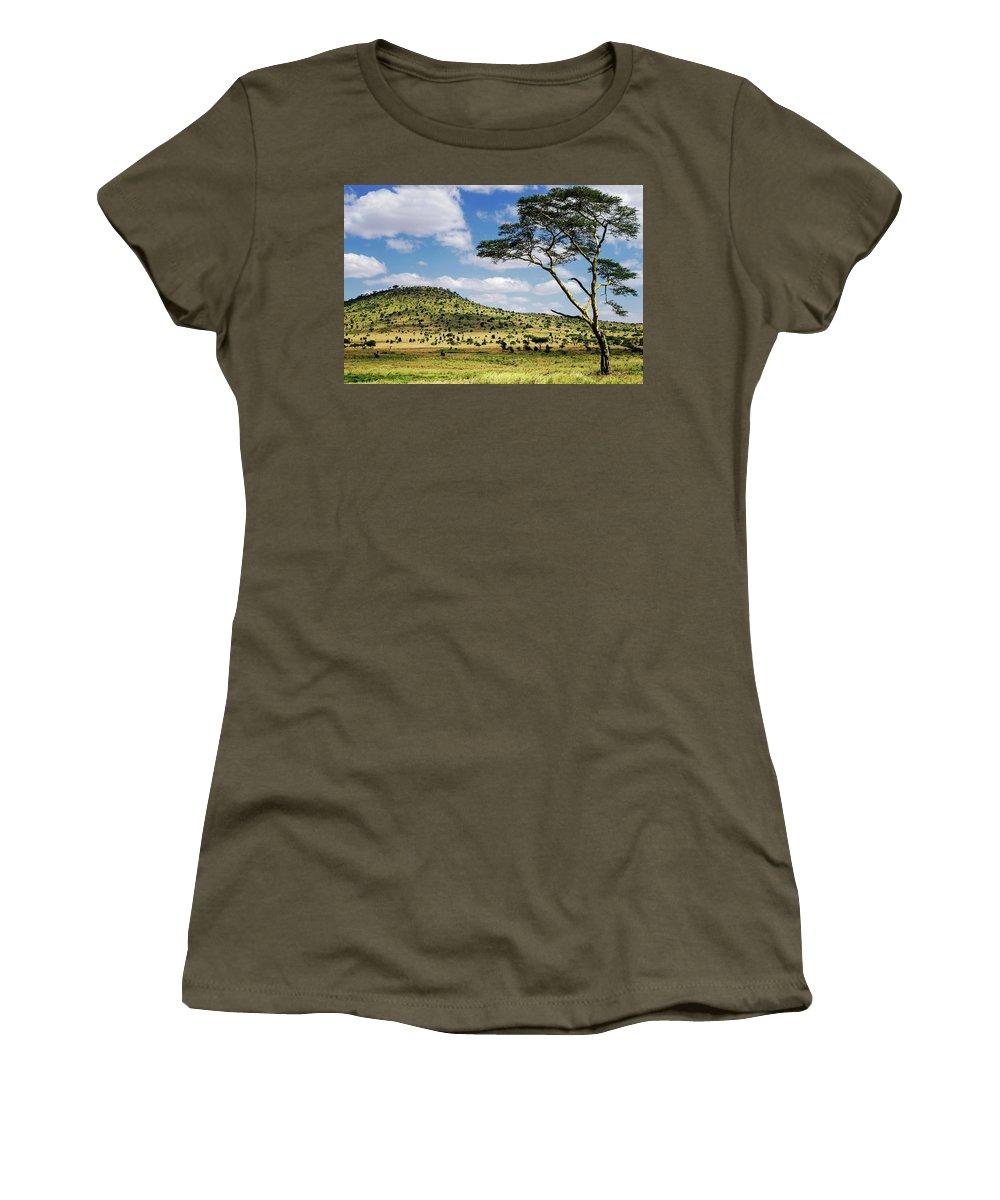 Serengeti Women's T-Shirt featuring the photograph Serengeti Classic by Vicki Jauron