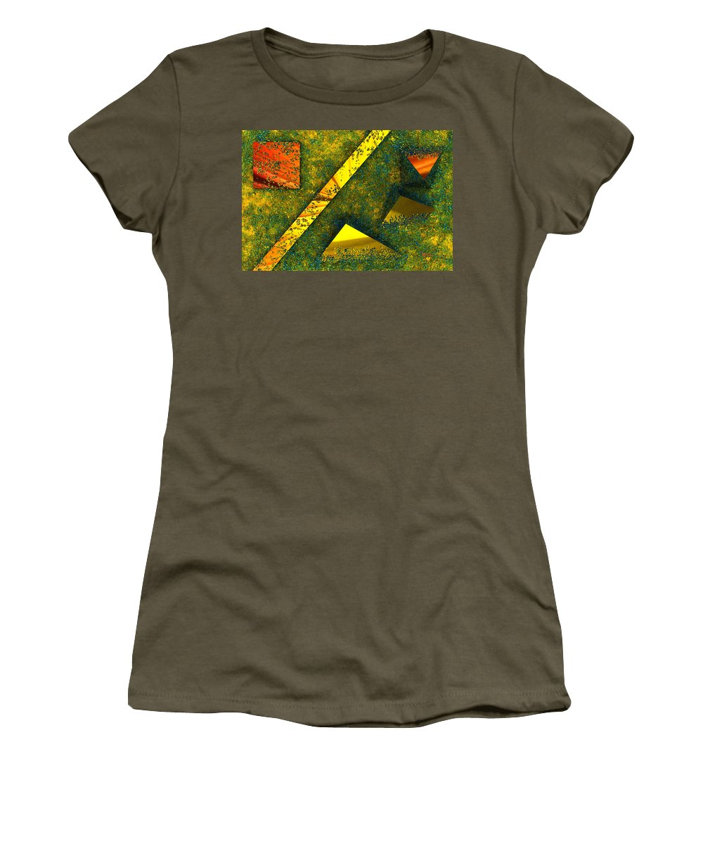 Background Women's T-Shirt featuring the digital art Setissimo 1 by Max Steinwald
