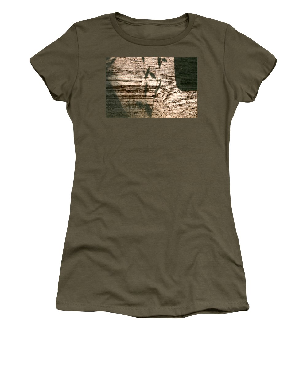 Women's T-Shirt (Athletic Fit) featuring the photograph Shadow by Clayton Bruster