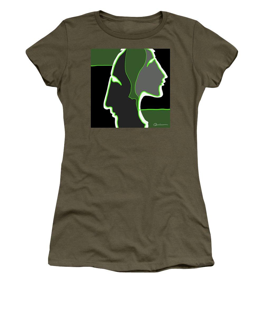 Quiros Women's T-Shirt featuring the digital art Shadows 2 by Jeff Quiros