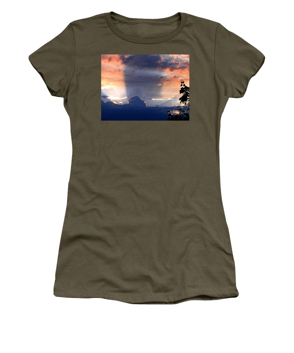 Sunset Women's T-Shirt (Athletic Fit) featuring the photograph Shadows In The Sky by Will Borden