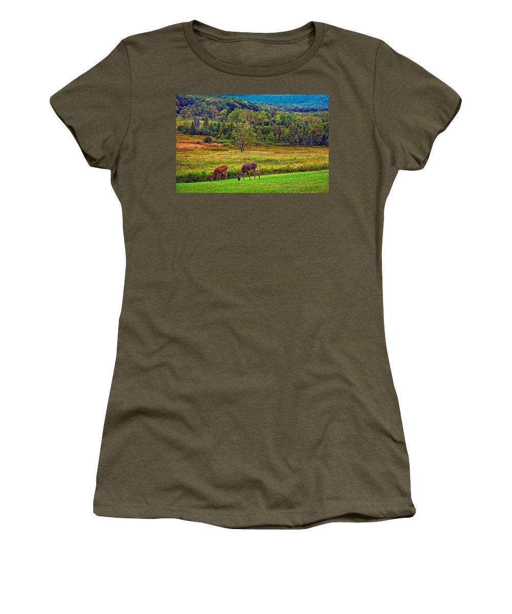 Canaan Valley Women's T-Shirt featuring the photograph Shh... by Steve Harrington