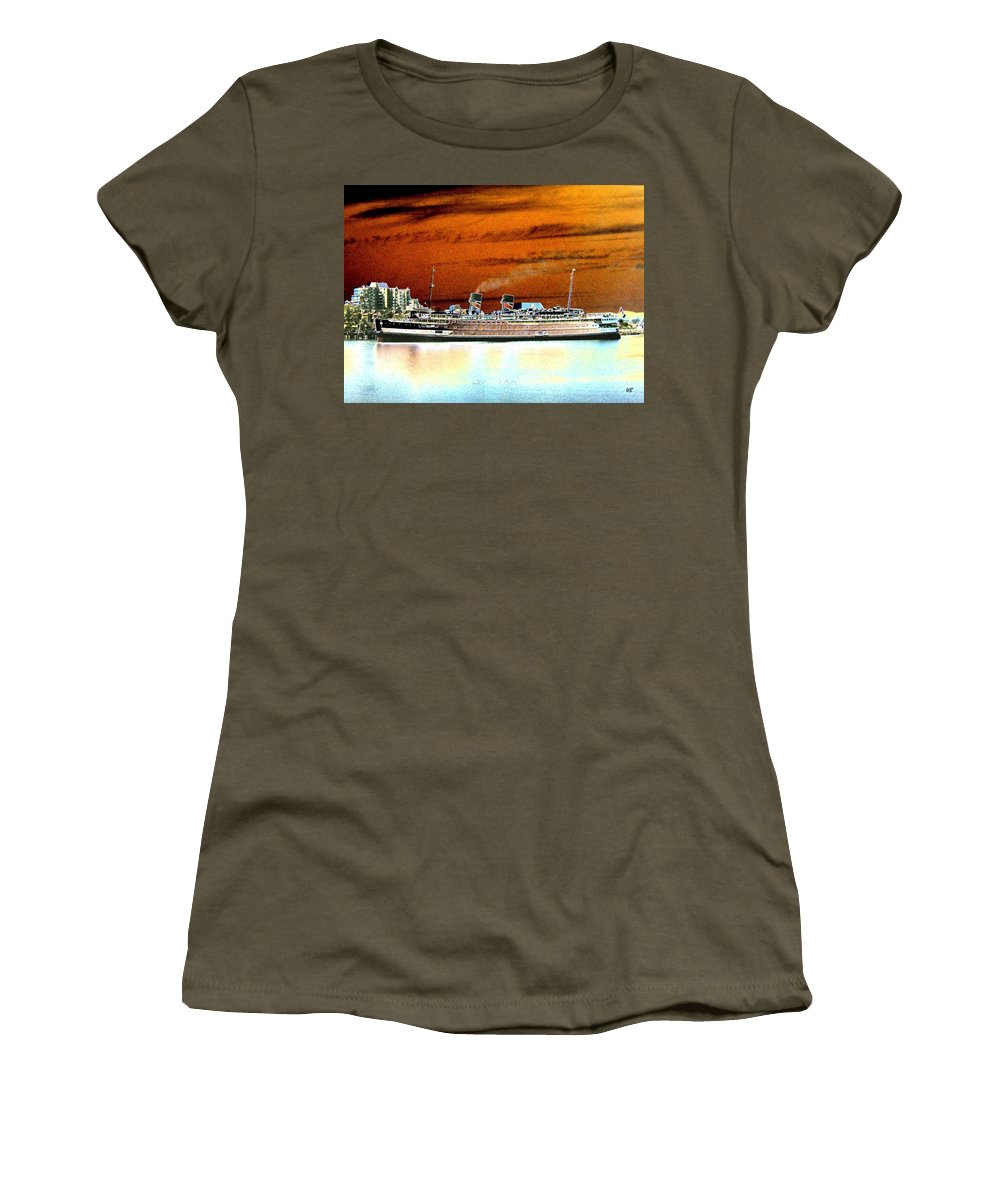 Ship Women's T-Shirt featuring the digital art Shipshape 2 by Will Borden