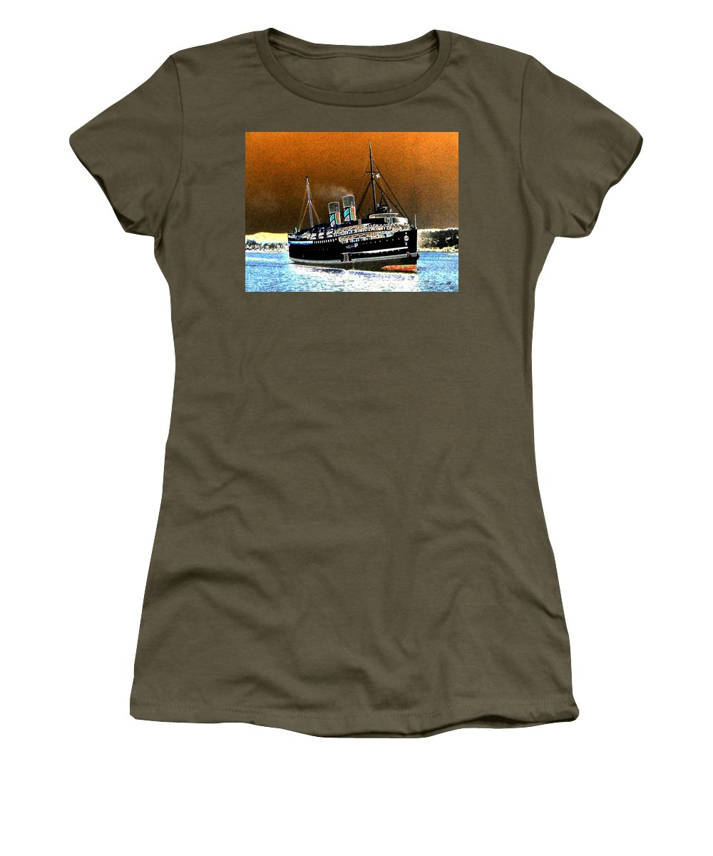 Princess Marguerite Women's T-Shirt featuring the digital art Shipshape 4 by Will Borden