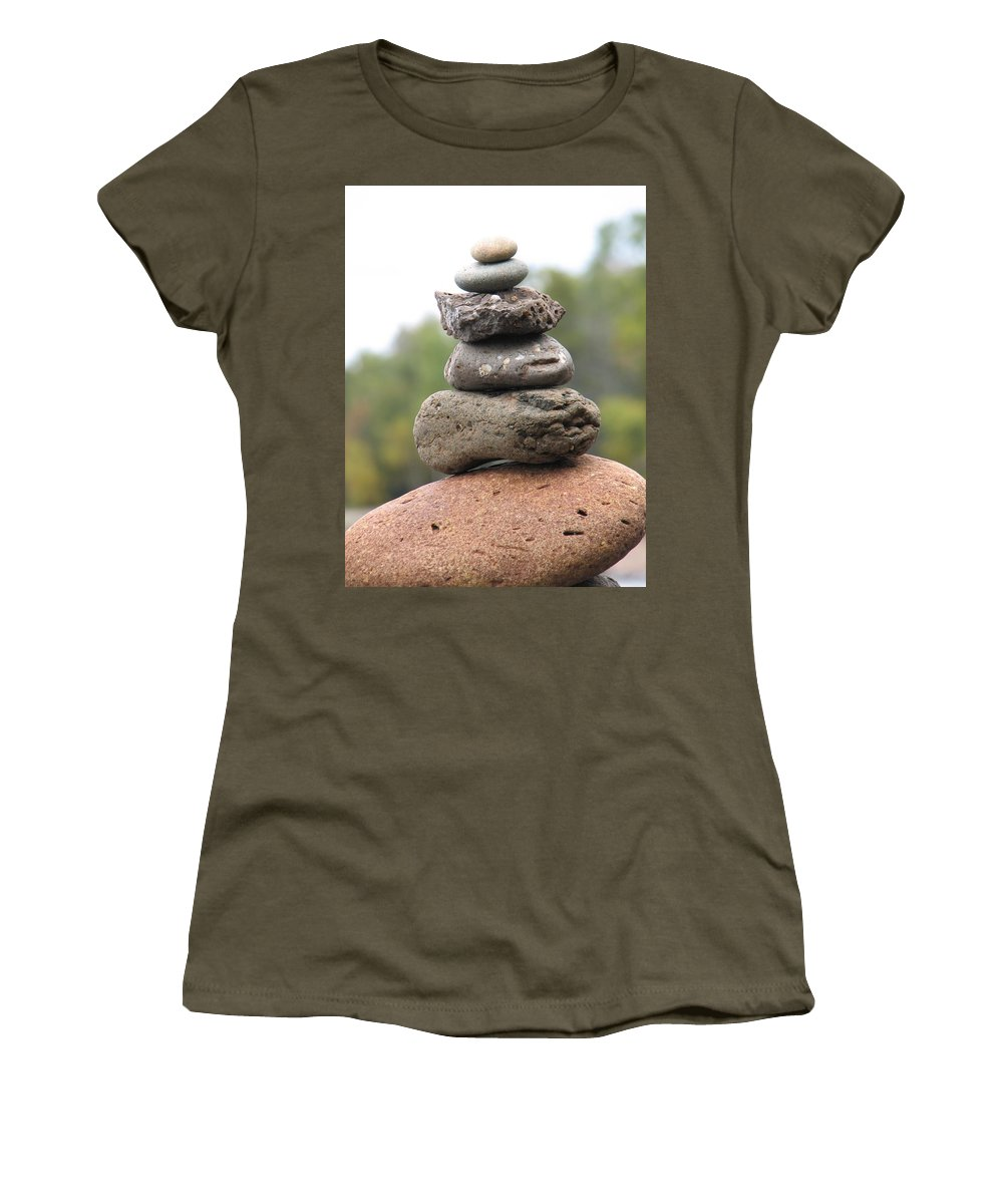 Rocks Women's T-Shirt featuring the photograph Short Stack by Kelly Mezzapelle
