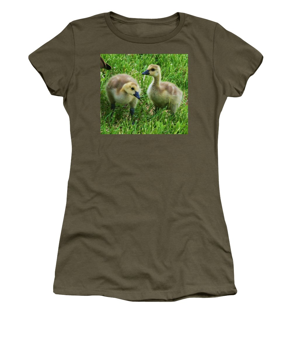 Nature Women's T-Shirt (Athletic Fit) featuring the photograph Siblings by Angus Hooper Iii