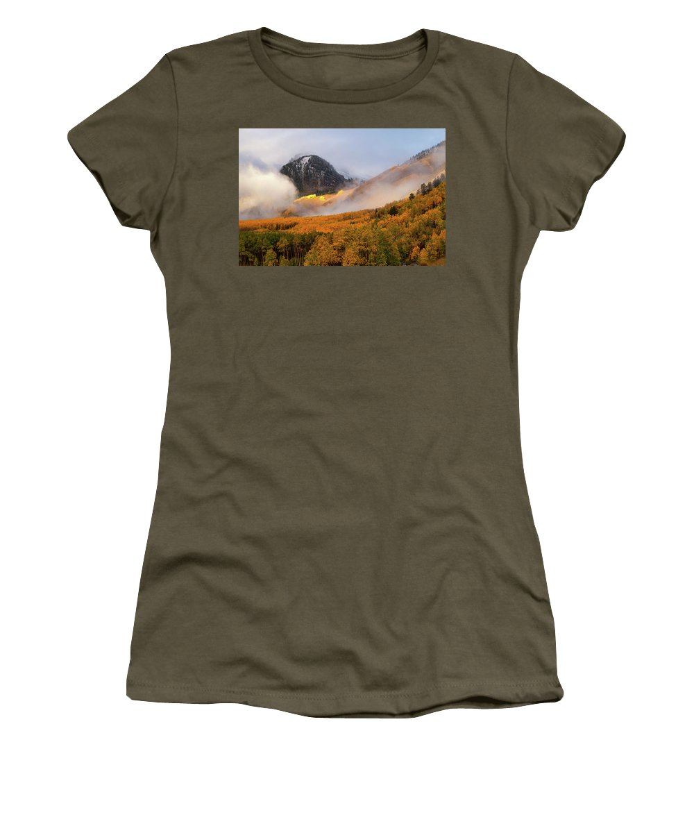 Colorado Women's T-Shirt featuring the photograph Siever's Mountain by Steve Stuller