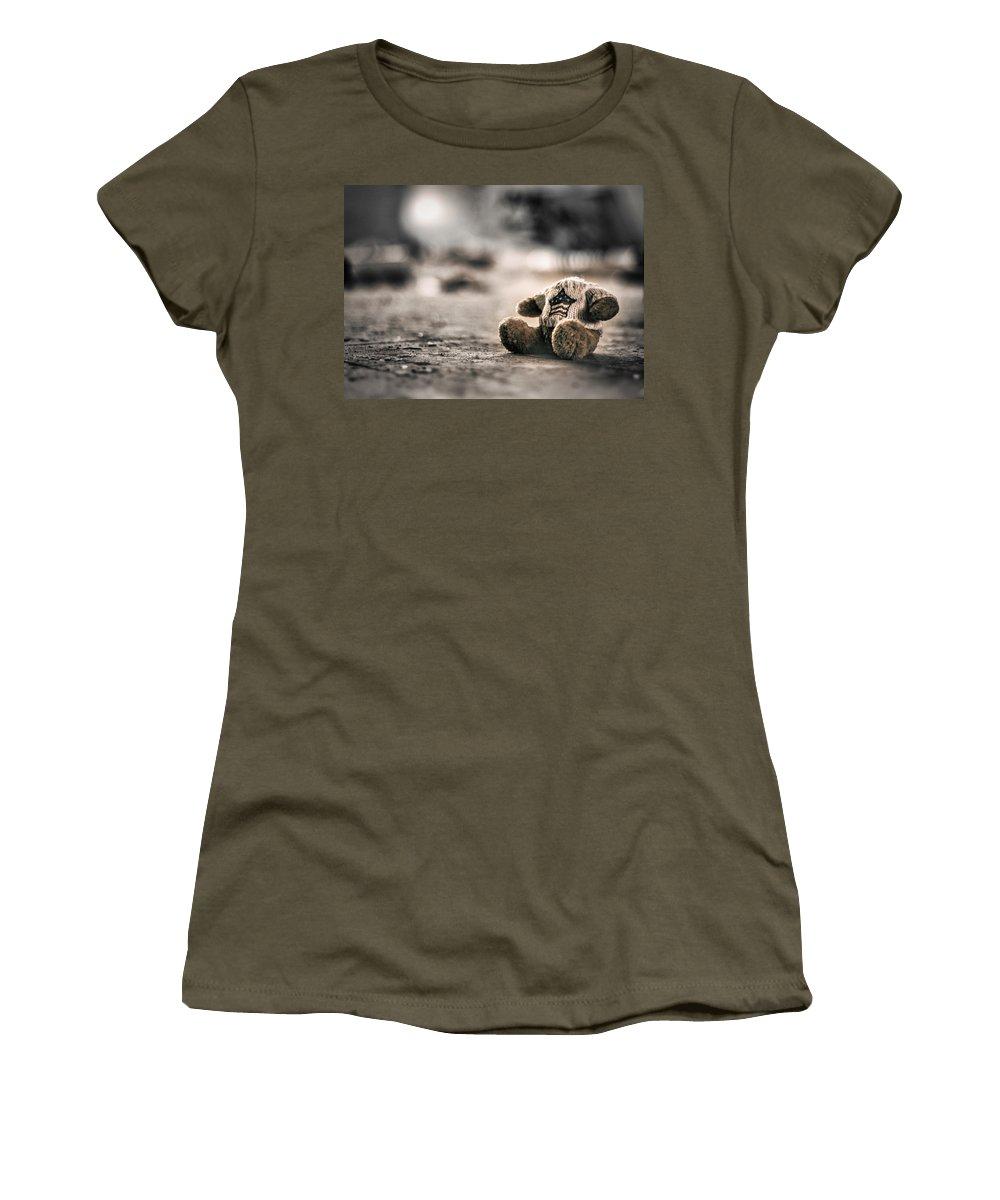 Bear Women's T-Shirt featuring the photograph Silent Games by Scott Wyatt