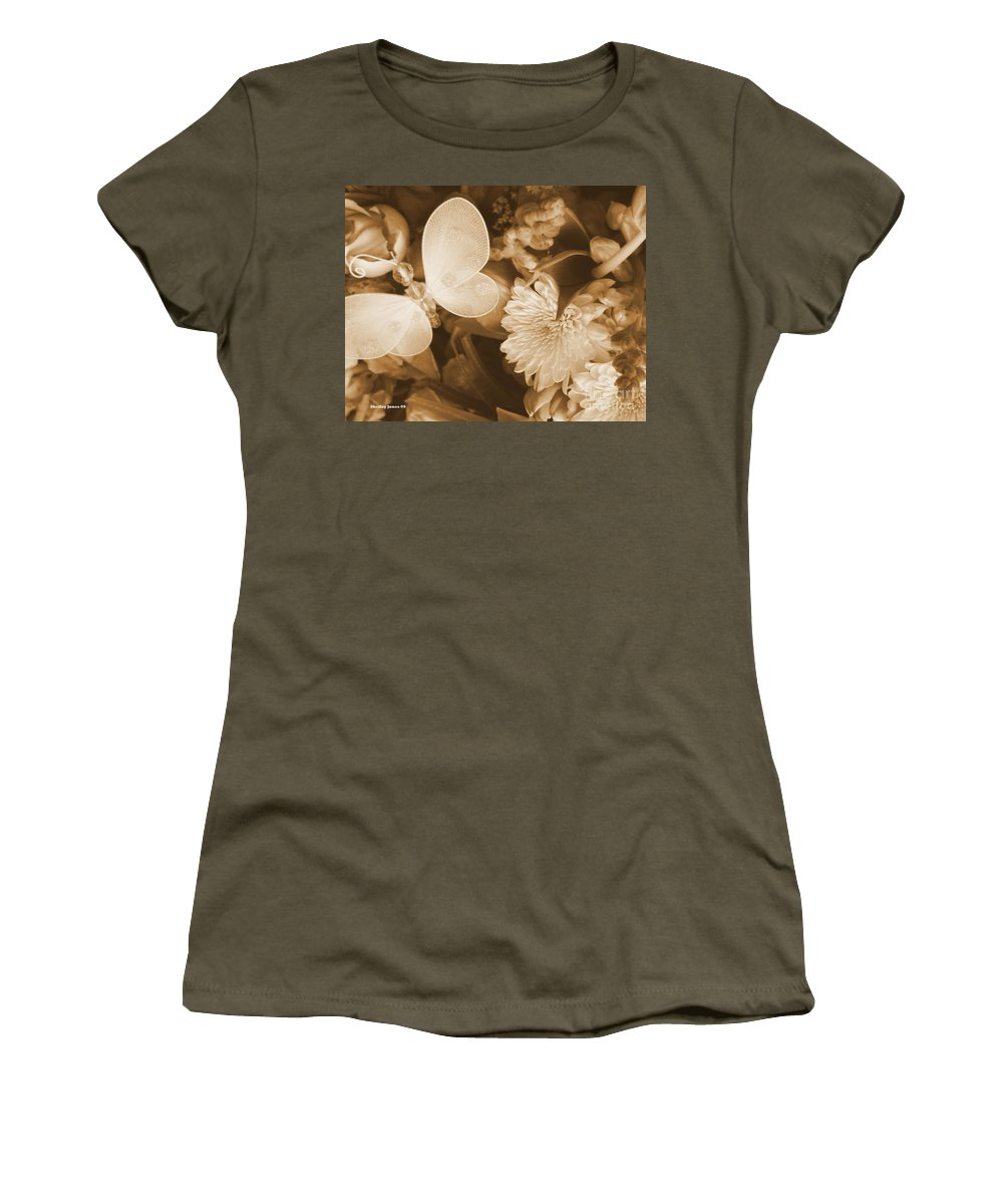 Photography Enhanced Women's T-Shirt (Athletic Fit) featuring the photograph Silent Transformation Of Existence by Shelley Jones