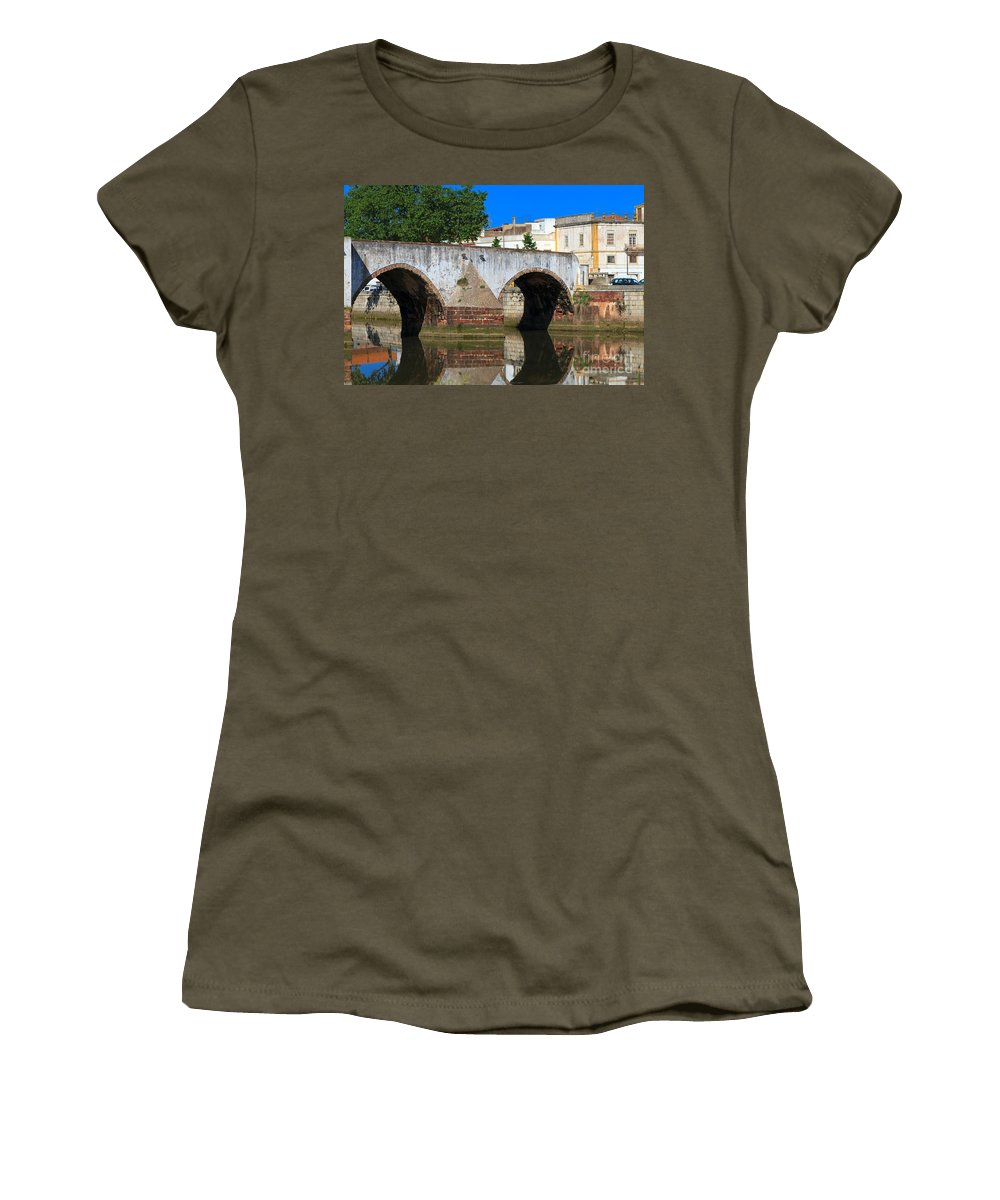Ponte Romana Women's T-Shirt featuring the photograph Silves Portugal by Louise Heusinkveld