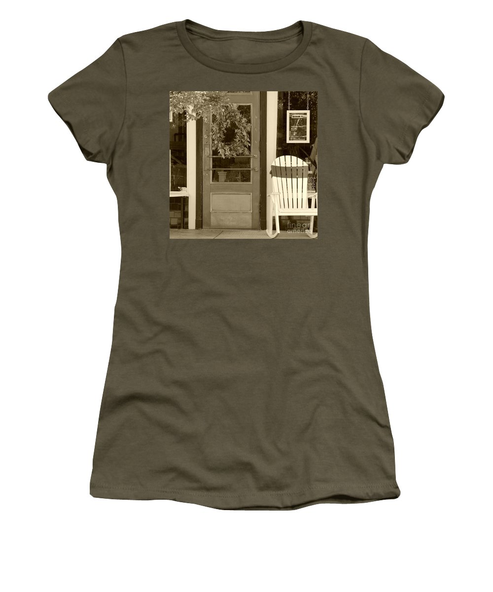 Rocking Chair Women's T-Shirt (Athletic Fit) featuring the photograph Simple Times by Debbi Granruth