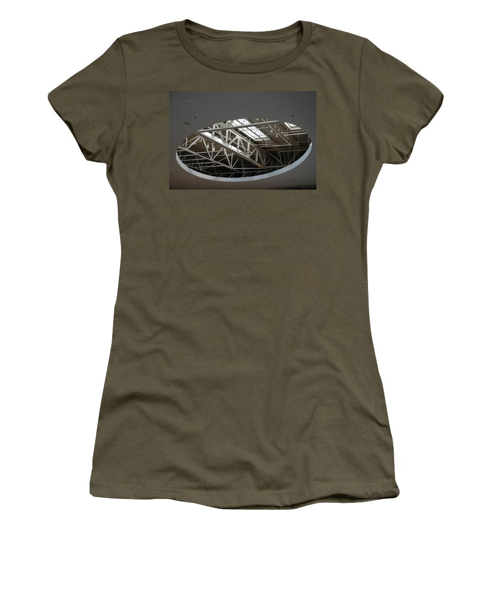 Ceiling Women's T-Shirt featuring the photograph Skylight Gurders by Rob Hans