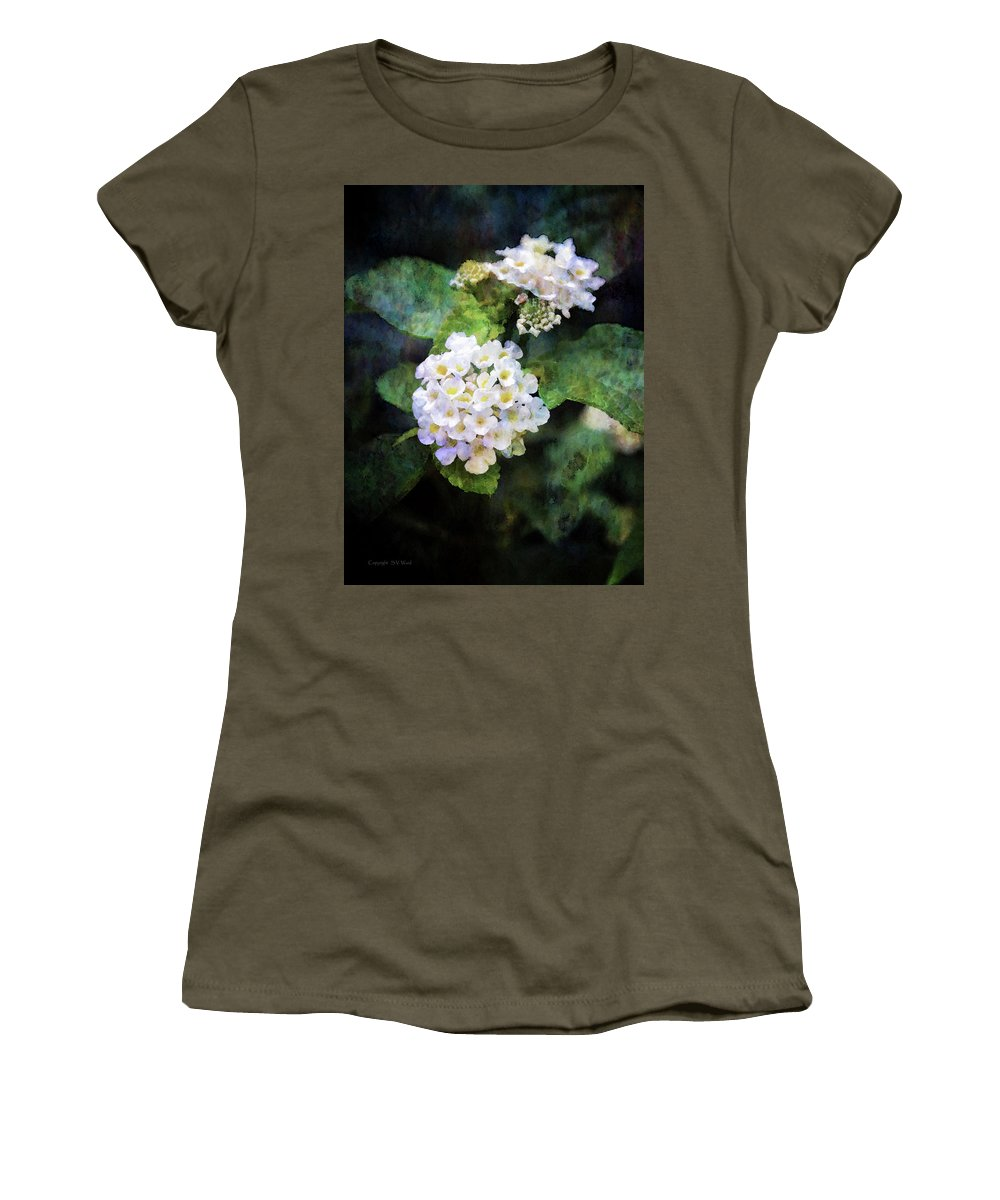 Small Women's T-Shirt featuring the photograph Small Blossoms 4948 Idp_2 by Steven Ward