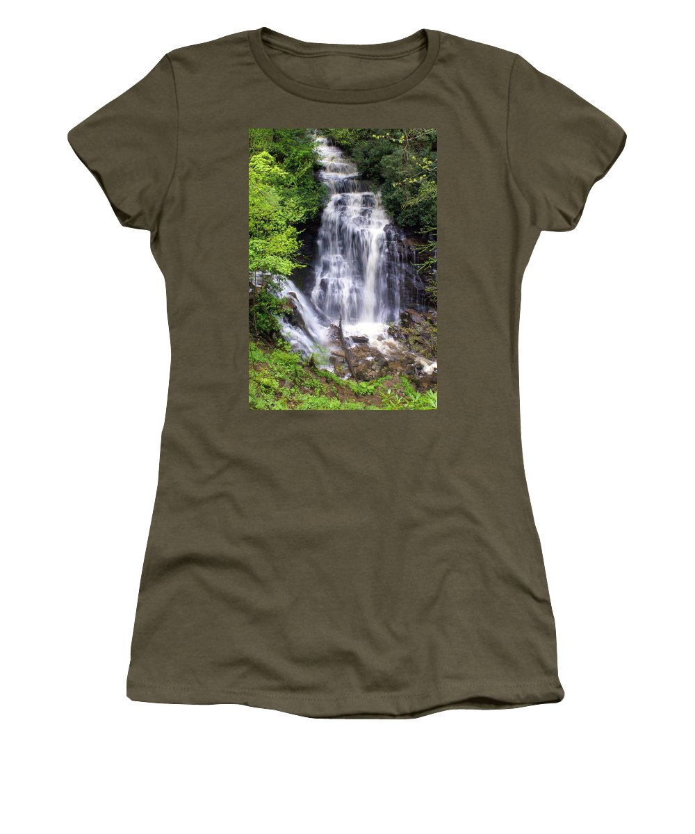 Soco Galls Women's T-Shirt featuring the photograph Soco Falls 1 by Marty Koch