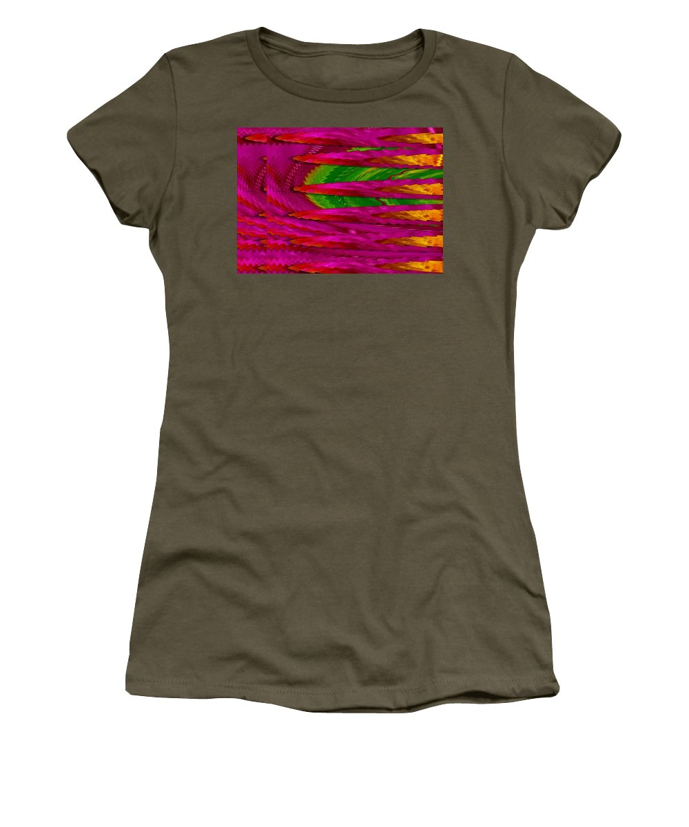 Abstract Women's T-Shirt featuring the mixed media Soft And Wonderful Art by Pepita Selles