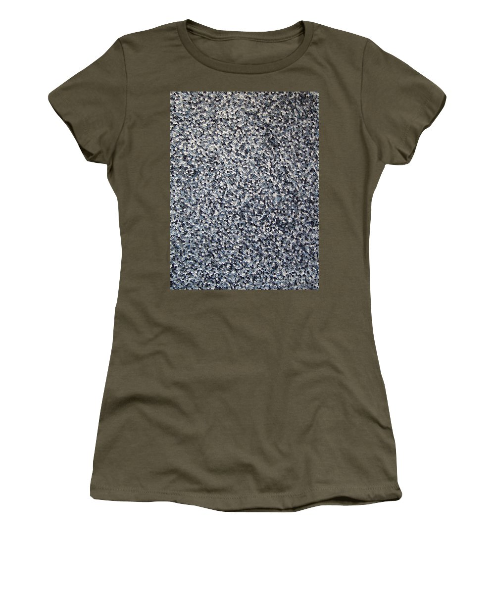 Abstract Women's T-Shirt featuring the painting Soft Grey Scale by Dean Triolo
