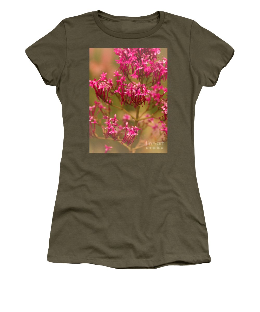 Flower Women's T-Shirt featuring the photograph Soft Pirouette by Linda Shafer