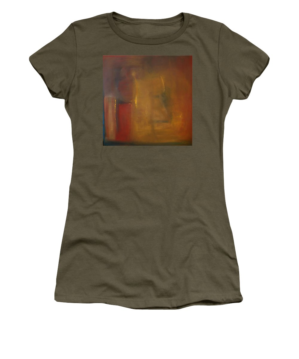 Women's T-Shirt (Athletic Fit) featuring the painting Softly Reflecting by Jack Diamond