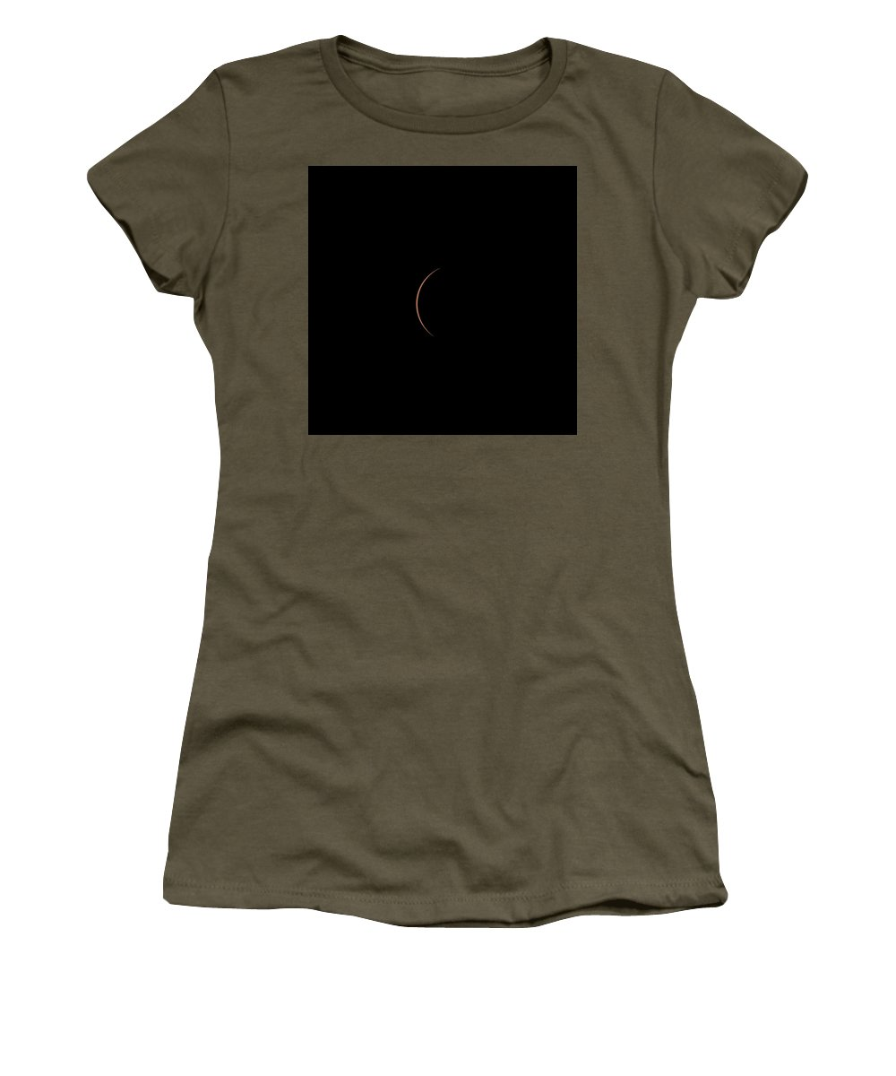 Solar Women's T-Shirt featuring the photograph Solar Eclipse 1432 by William Bitman