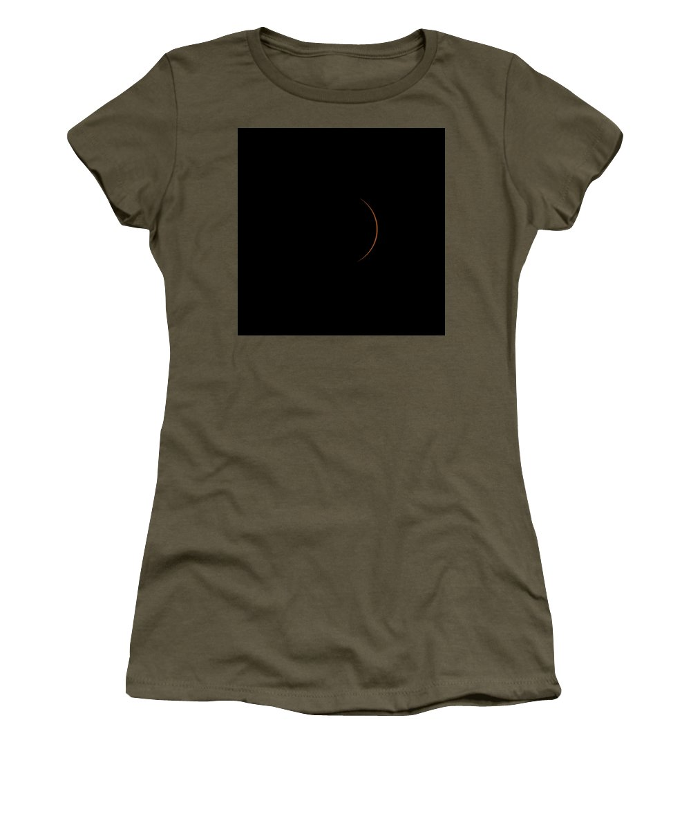 Solar Women's T-Shirt featuring the photograph Solar Eclipse 143830 by William Bitman