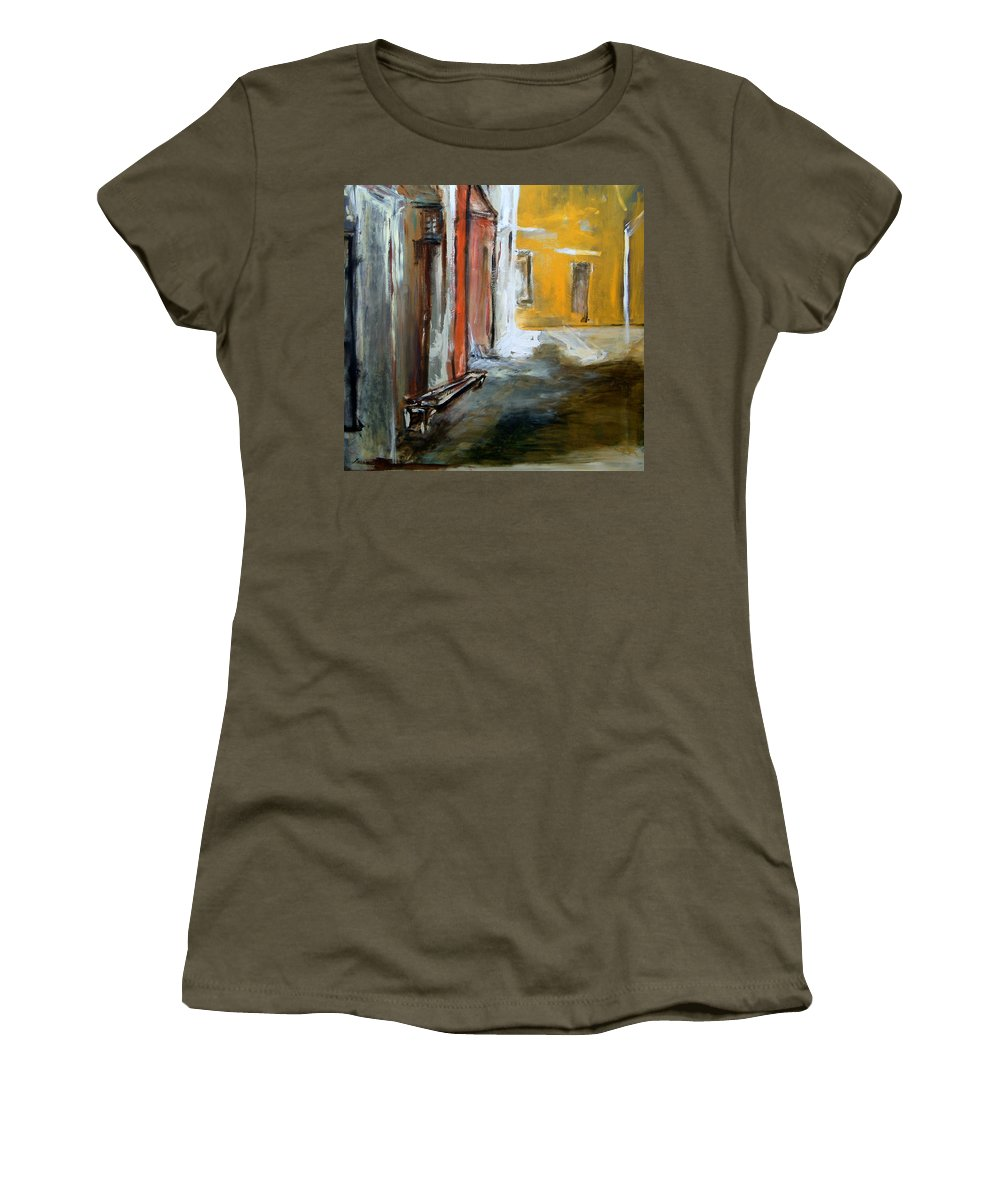 Easter Women's T-Shirt featuring the painting Solitude by Rome Matikonyte