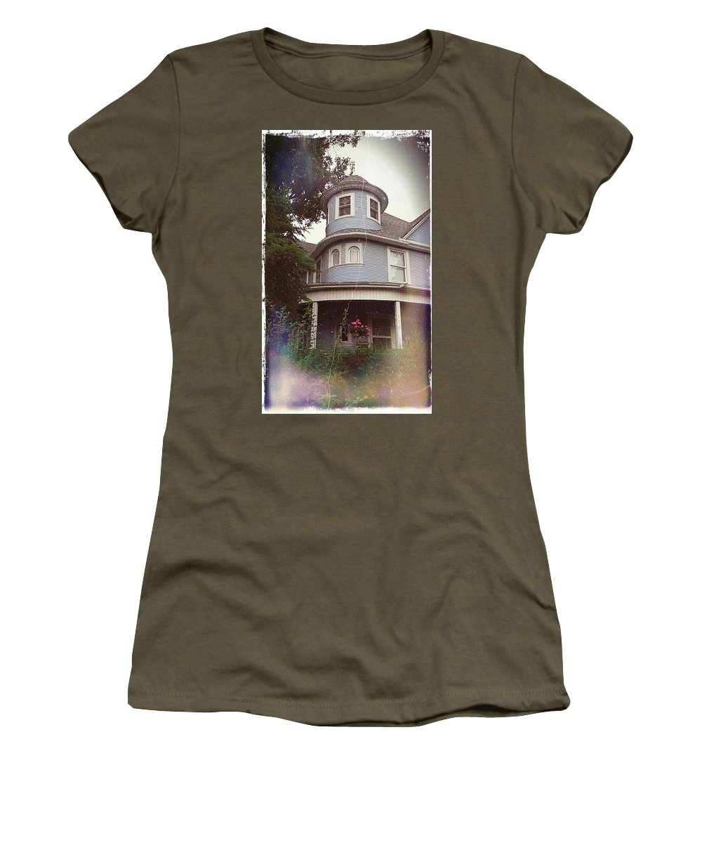 Angelandspot Women's T-Shirt featuring the photograph Someone Is Watching by Cassie Peters