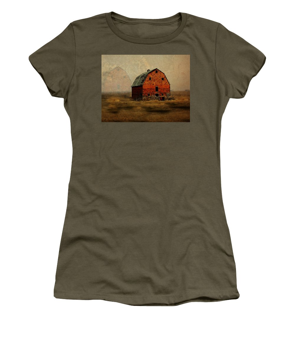 Barn Women's T-Shirt (Athletic Fit) featuring the digital art Soon To Be Forgotten by Julie Hamilton