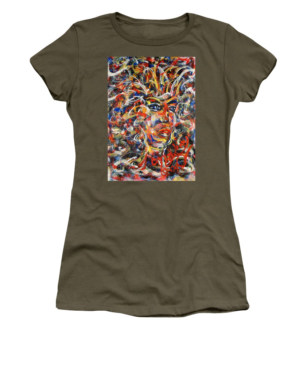 Free Expressionism Women's T-Shirt featuring the painting Sophia by Natalie Holland