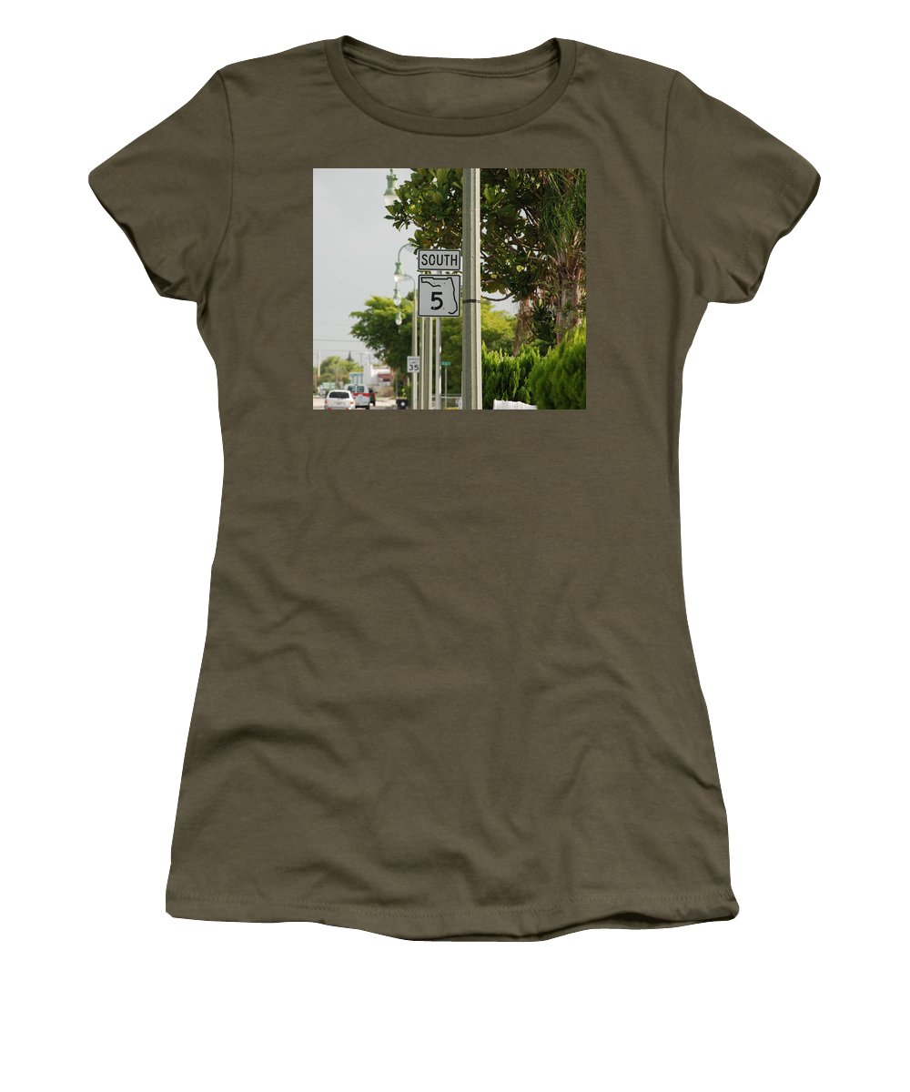 South Women's T-Shirt (Athletic Fit) featuring the photograph South Florida 5 by Rob Hans