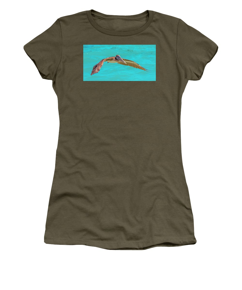 Key Women's T-Shirt featuring the photograph Southern Most Pelican by Betsy Knapp