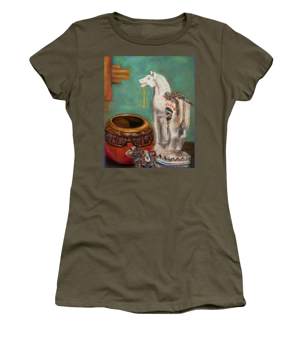 Southwest Art Women's T-Shirt featuring the painting Southwest Treasures by Frances Marino