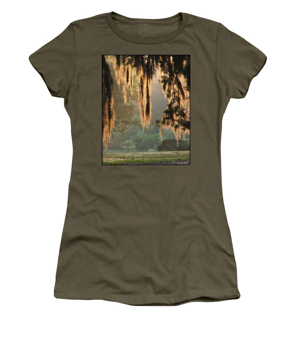 Spanish Moss Women's T-Shirt featuring the photograph Spanish Moss In The Morning by Robert Meanor