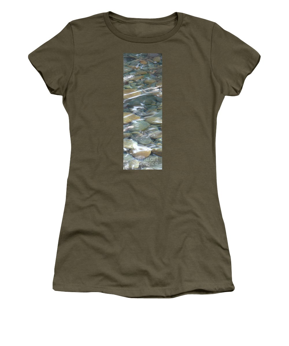 Sparkling Water Women's T-Shirt featuring the photograph Sparkling Water On Rocky Creek 1 by Carol Groenen