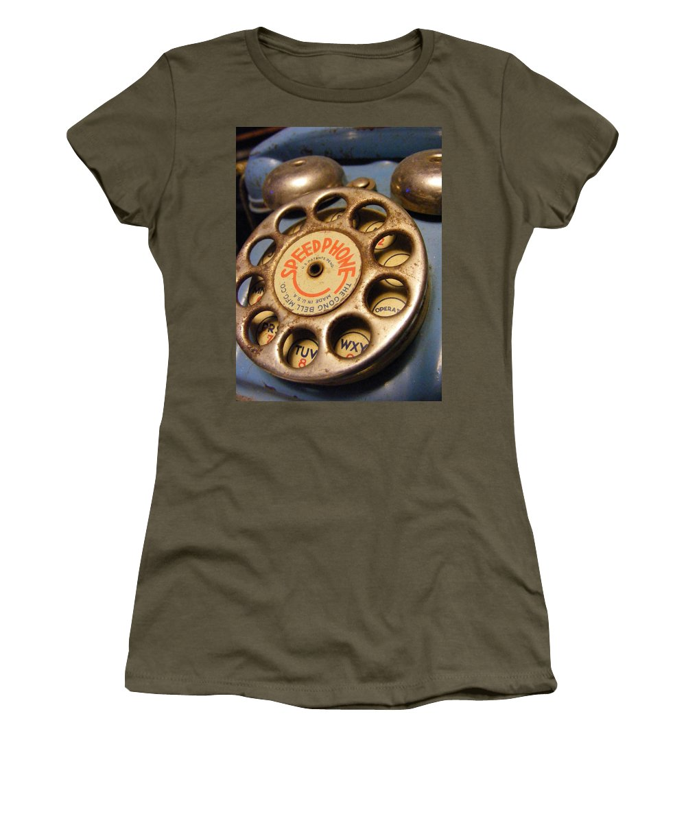 Phone Women's T-Shirt (Athletic Fit) featuring the photograph Speed Phone by Ed Smith