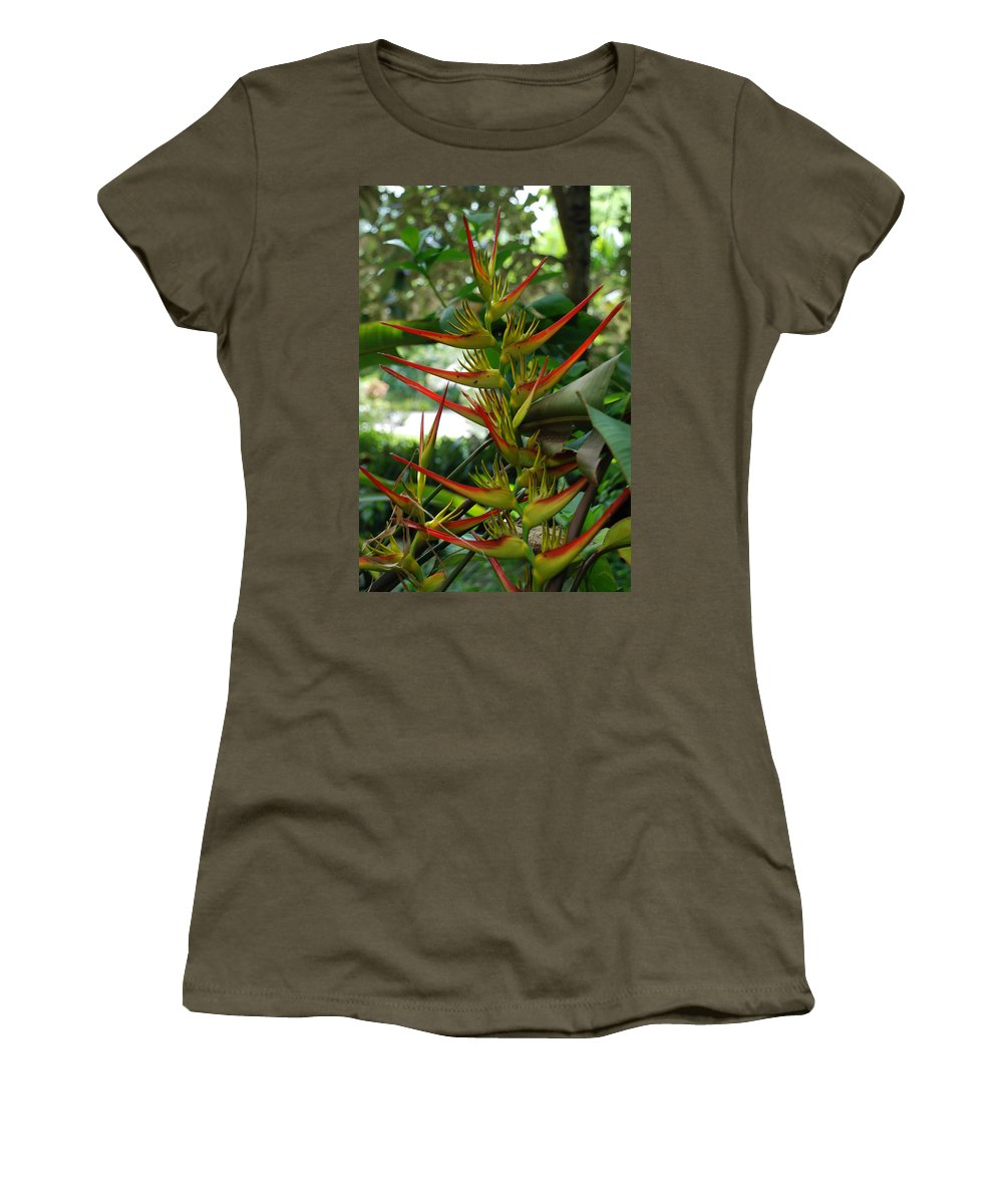 Spike Women's T-Shirt (Athletic Fit) featuring the photograph Spike Plants by Rob Hans