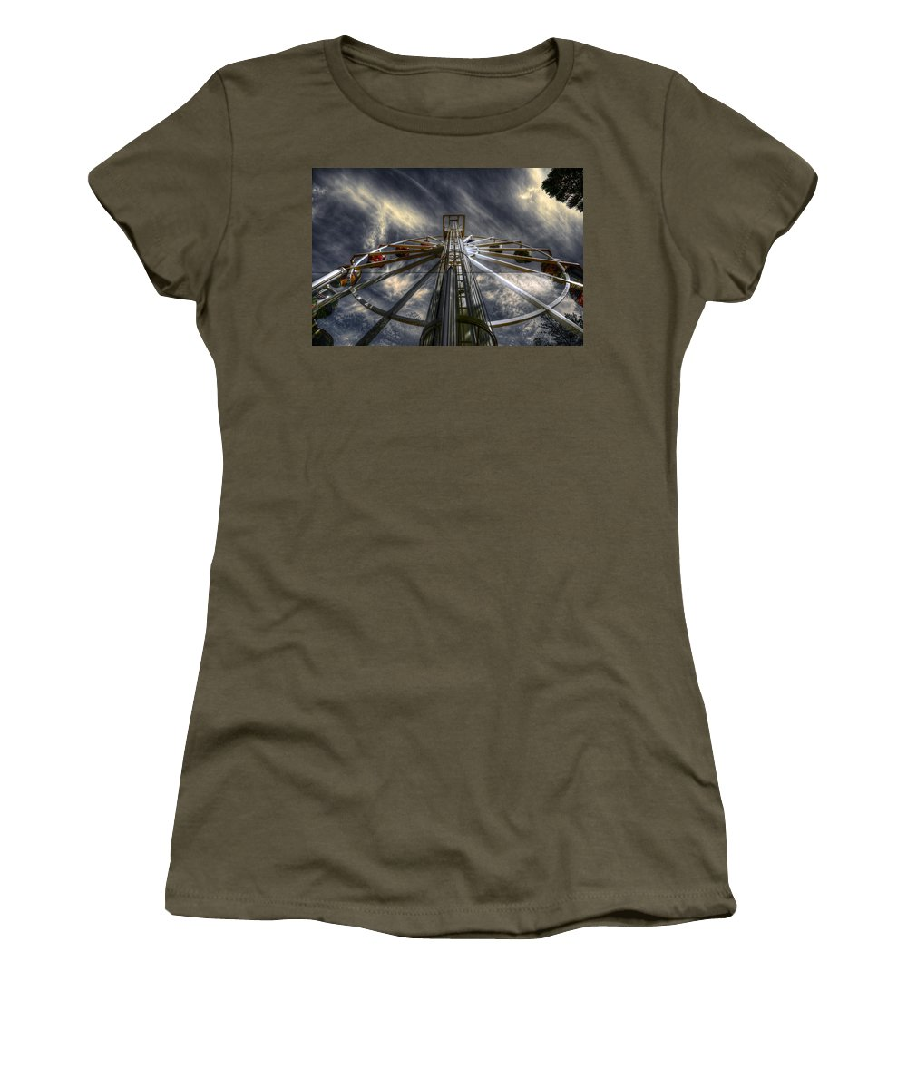 Amusement Women's T-Shirt (Athletic Fit) featuring the photograph Spinner by Wayne Sherriff