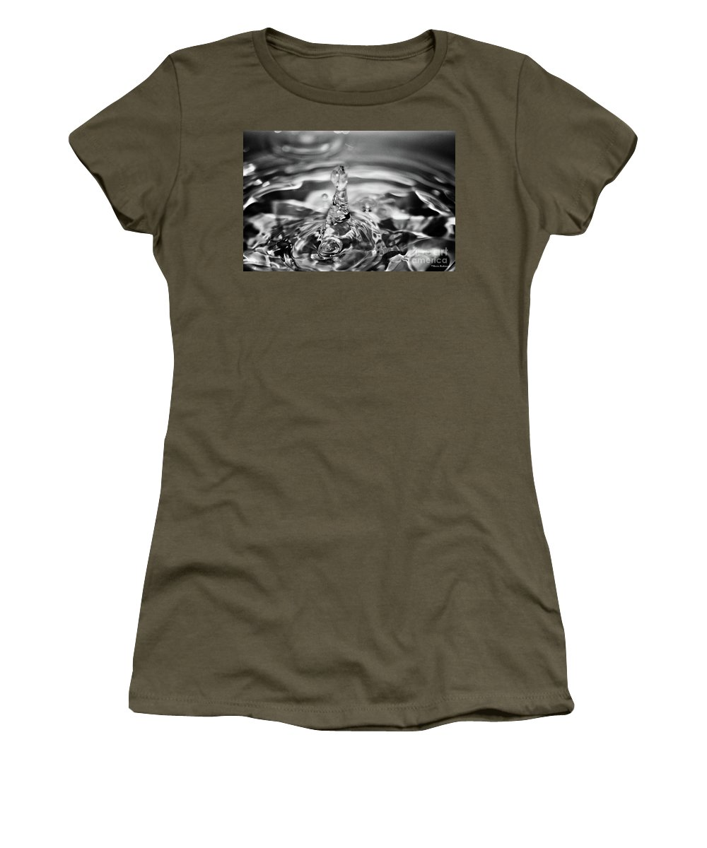 Water Women's T-Shirt featuring the photograph Splash by Ilaria Andreucci