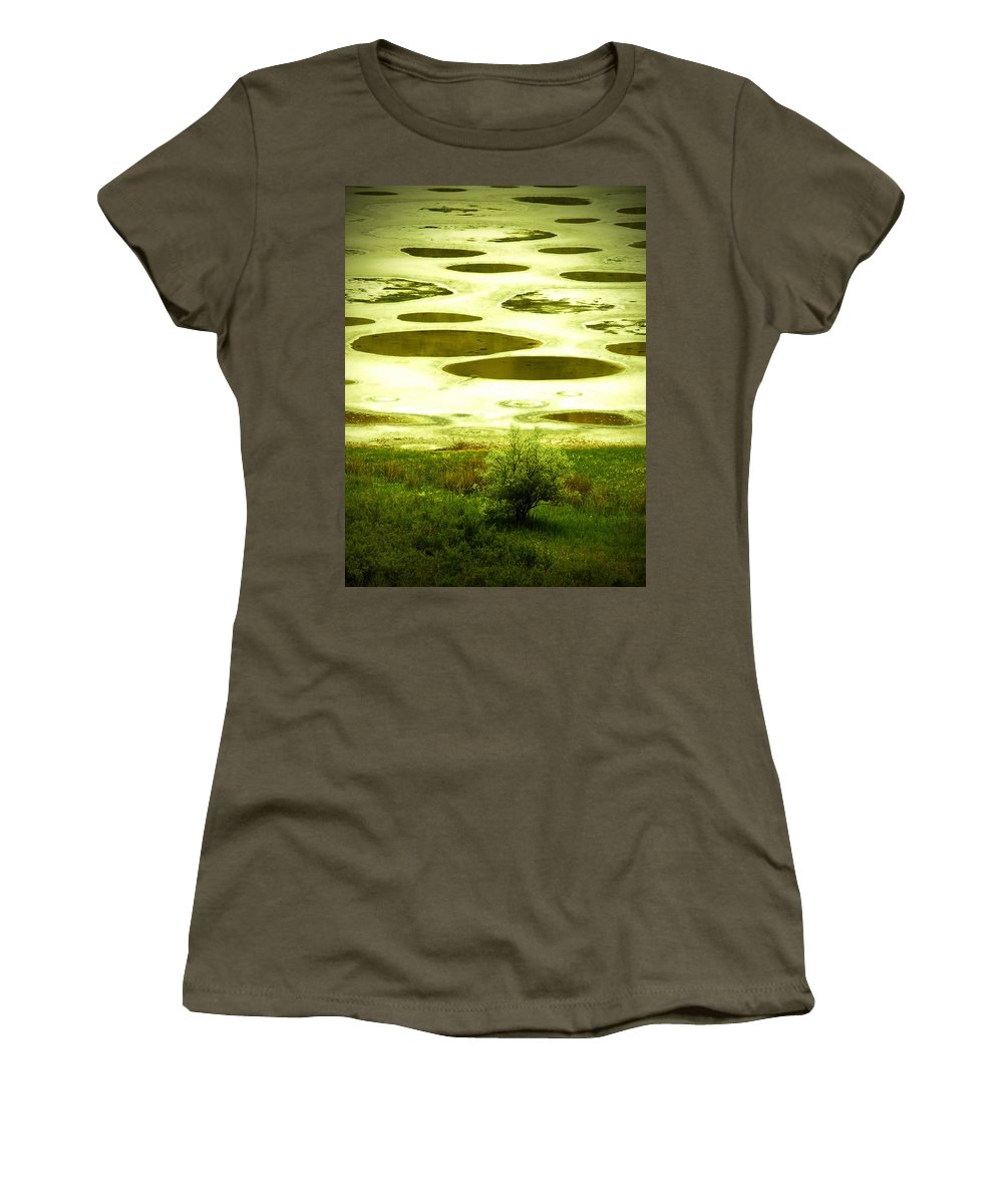 Spotted Lake Women's T-Shirt featuring the photograph Spotted Lake by Tara Turner
