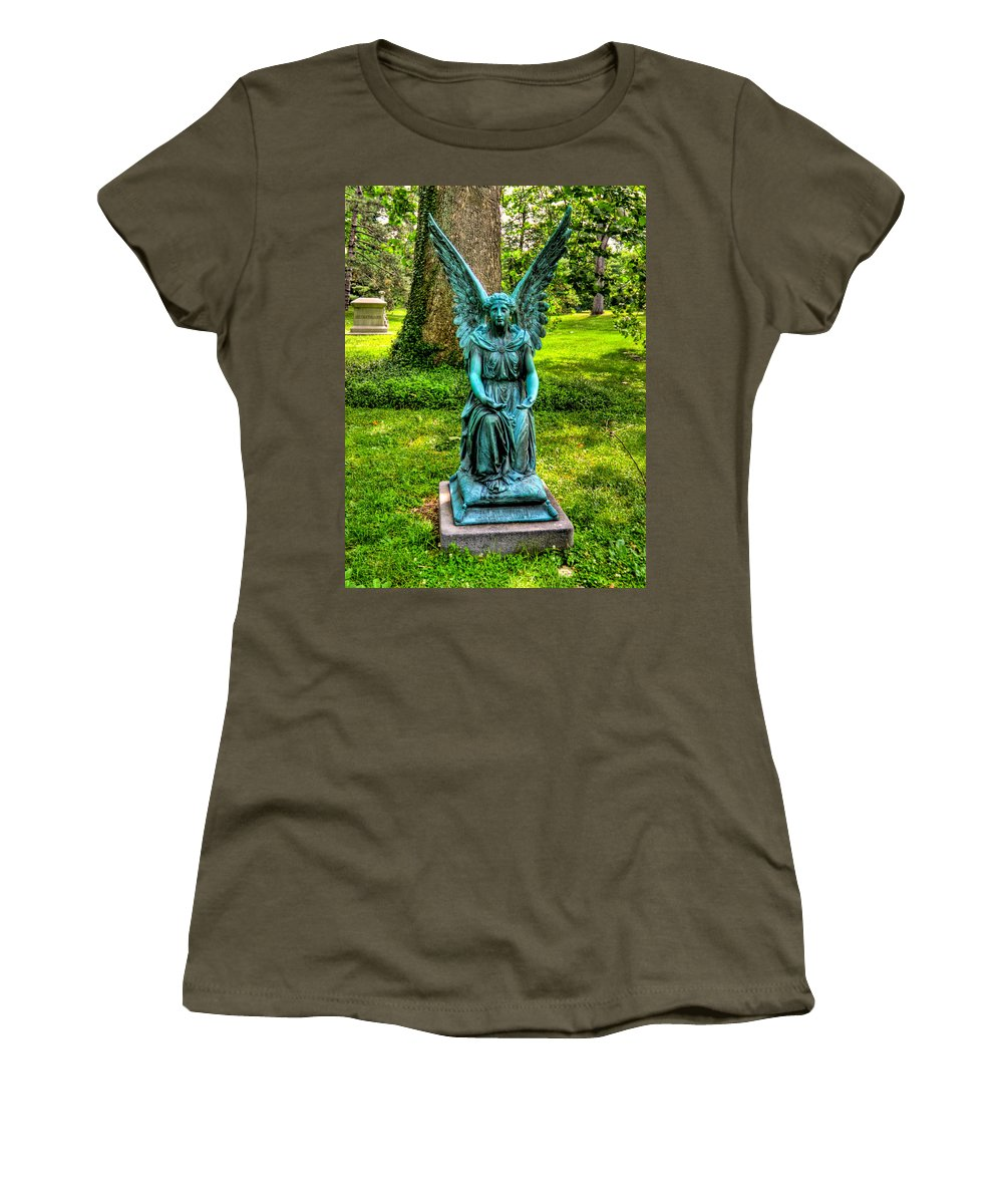 Spring Grove Women's T-Shirt featuring the photograph Spring Grove Angel by Jonny D