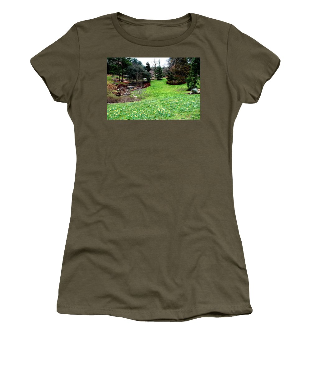 Sarah Duke Women's T-Shirt (Athletic Fit) featuring the photograph Spring Valley by Rand Wall