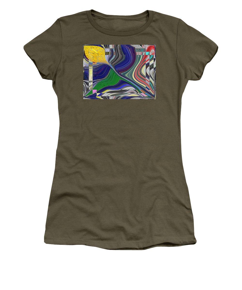 Abstract Women's T-Shirt featuring the digital art Springtime Delight by Tim Allen