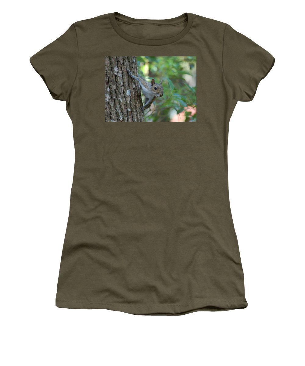 Squirrel Women's T-Shirt featuring the photograph Squirrel by Robert Meanor