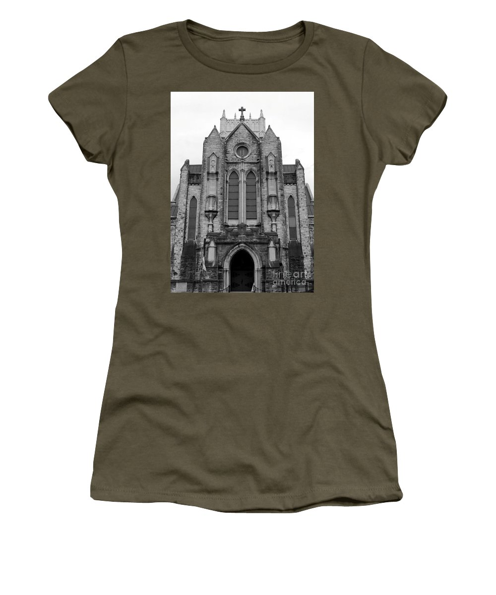 Church Women's T-Shirt featuring the photograph St Mary's Cathedral Memphis Tn by Robert Wilder Jr