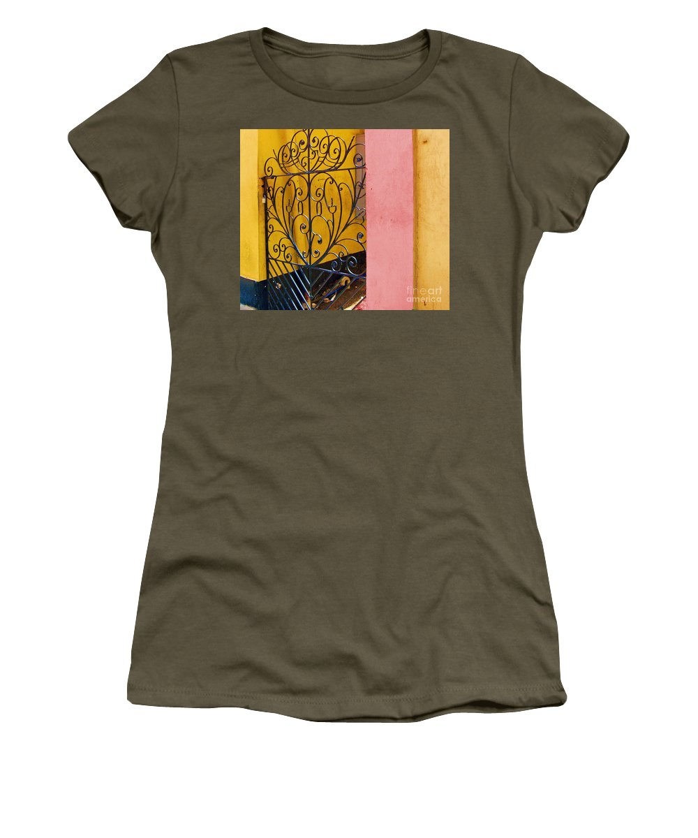 Gate Women's T-Shirt featuring the photograph St. Thomas Gate by Debbi Granruth