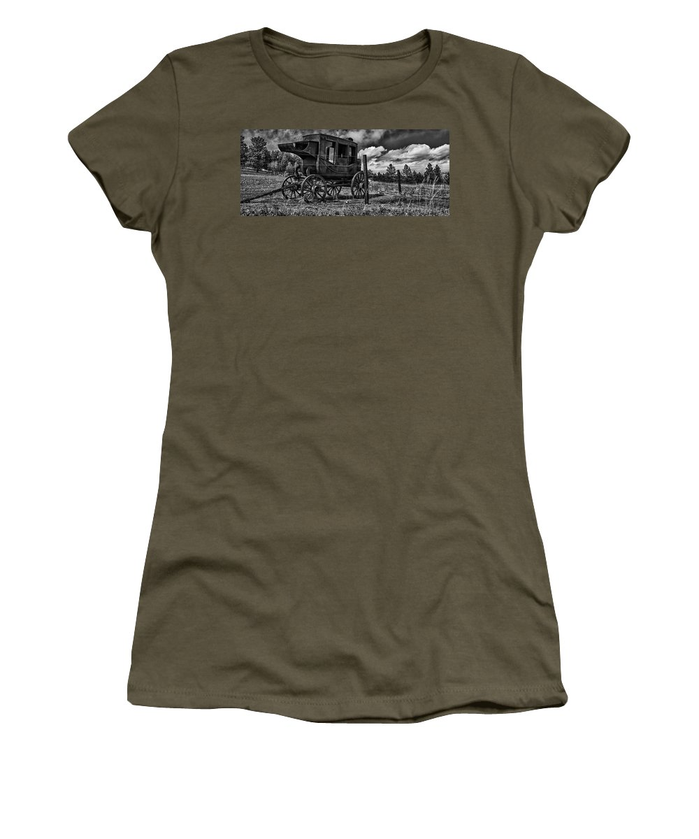 Wester United States Women's T-Shirt featuring the photograph Stagecoach II by Ron White