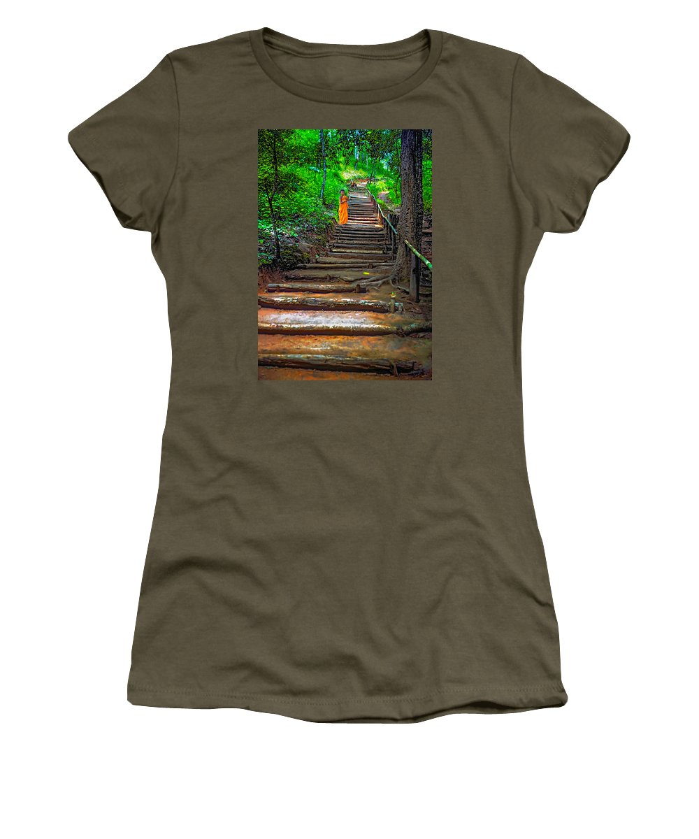 Jungle Women's T-Shirt featuring the photograph Stairway To Heaven by Steve Harrington