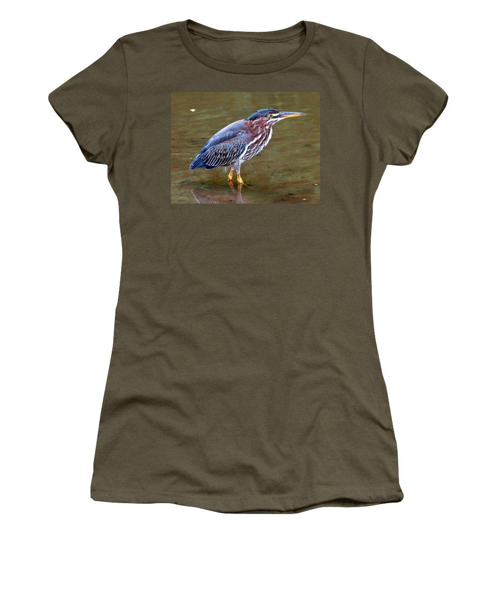 Bird Women's T-Shirt featuring the photograph Stalker by Gary Adkins